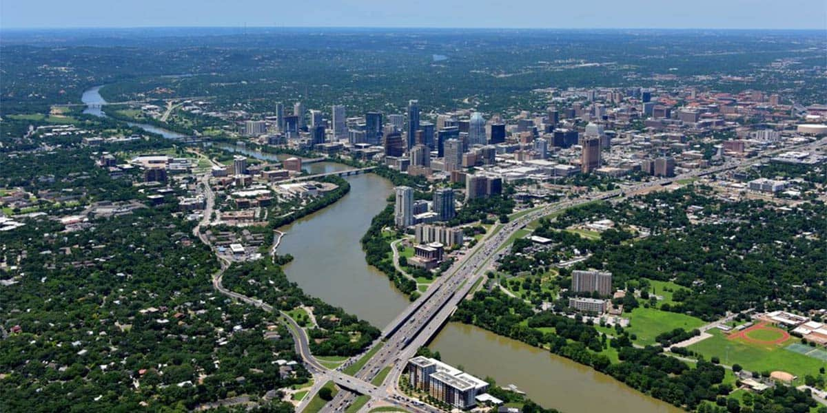 Austin TX sky view, Cherry Coatings, a commercial coatings company in AustinTX