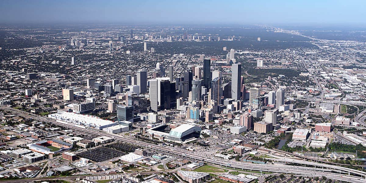 Houston TX sky view, Cherry Coatings, a commercial coatings company in Houston TX