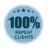 100% repeat clients