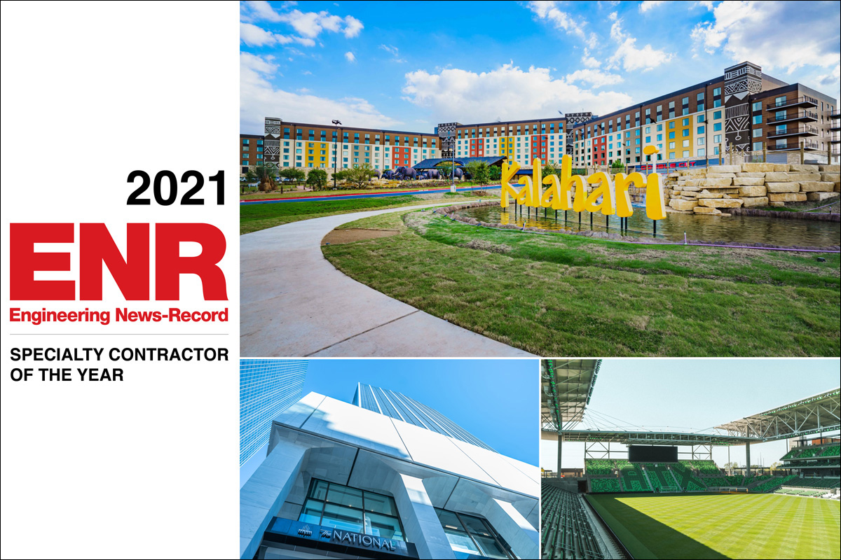 Named ENR 2021 Specialty Contractor of the Year