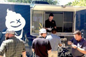 Dallas office enjoying DizziBrands boozy ice cream